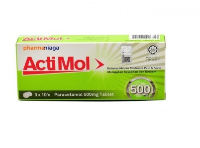 ACTIMOL 500MG