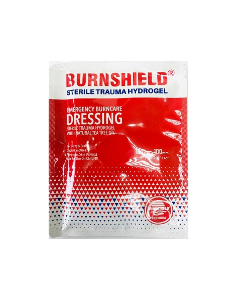 BURNSHIELD STERILE TRAUMA HYDROGEL 100MMX100MM