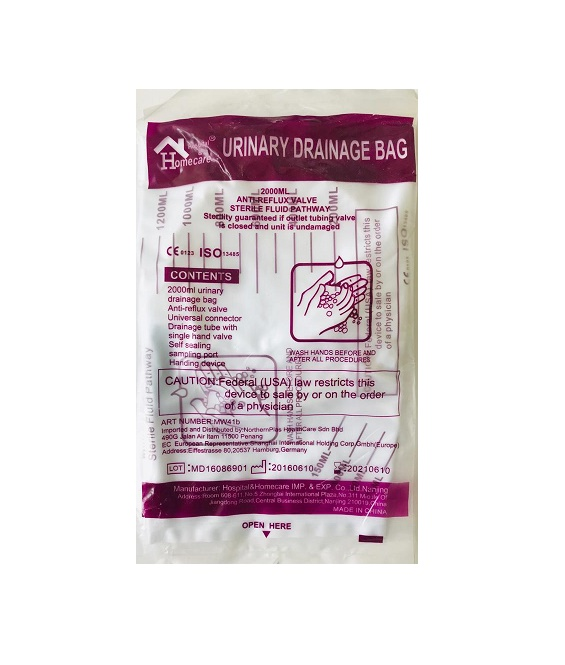URINARY DRAINAGE BAG 2L