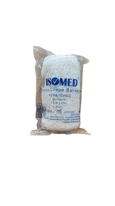 ISOMED ELASTIC CREPE BANDAGE 7.5CM (IHB)