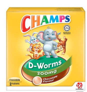 CHAMPS D-WORMS TAB 2'S(CCM)