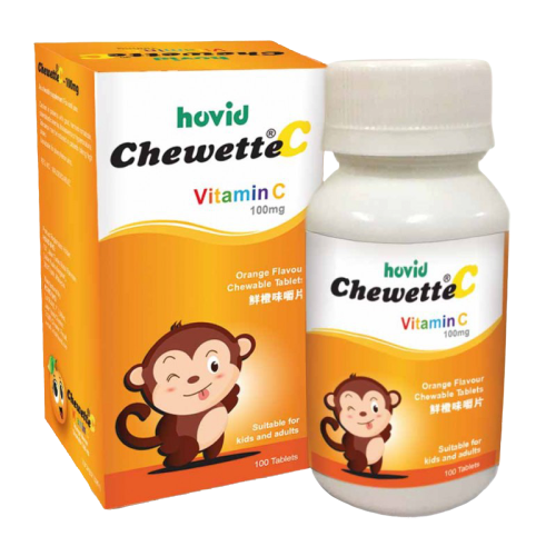 CHEWETTE VITAMIN C 100MG ORANGE  100'S (H)